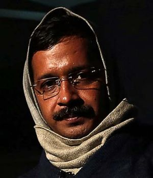 Delhi's Chief Minister Arvind Kejriwal, chief of the Aam Aadmi (Common Man) Party.