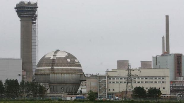 Raised radiation levels: The Sellafield nuclear plant.