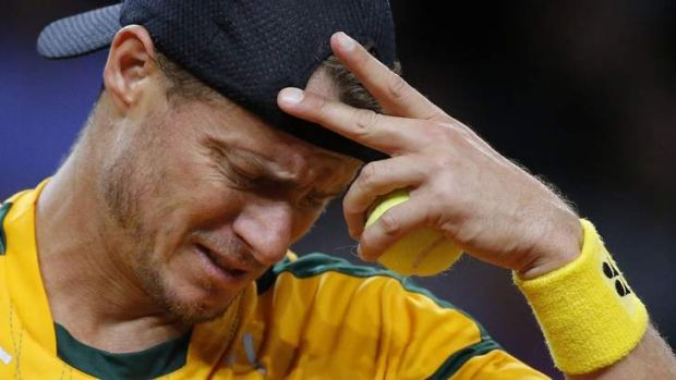 Up-hill battle: Australia have a tough challenge to progress in the Davis Cup after falling 2-0 down against France.