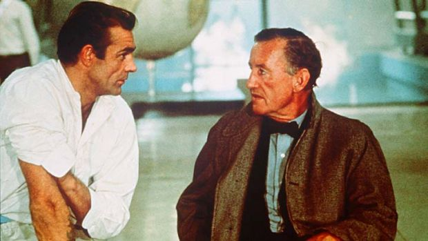A complex man: Sean Connery and Ian Fleming discuss James Bond's character while filming <em>Dr No</em>.
