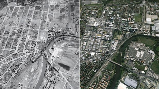 Resilience: The effects of different planning are evident in Liverpool 1943, compared with now.