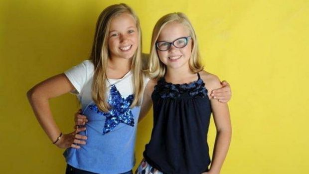 Young stars: twin models Chelsea (left) and Chloe Hall.