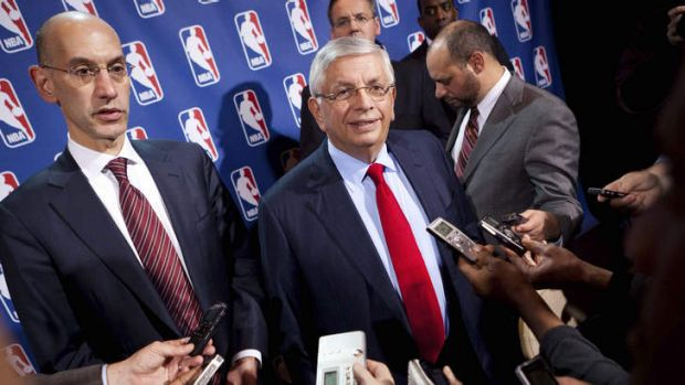New NBA Commissioner Adam Silver with his predecessor, David Stern. He is not in the Hall of Fame, he never played in an ...