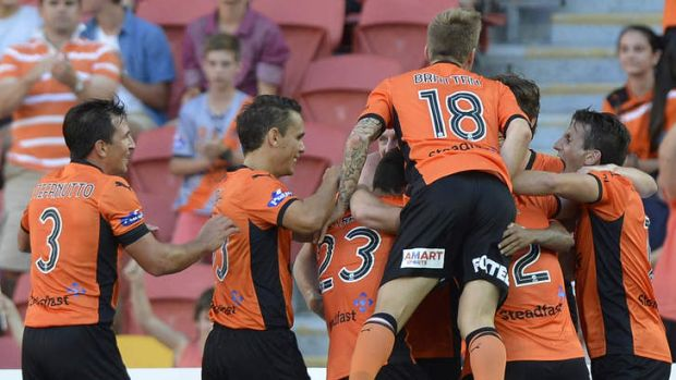 Crowd pleaser: The Roar's Henrique levelled the score with a classy strike in the second half.
