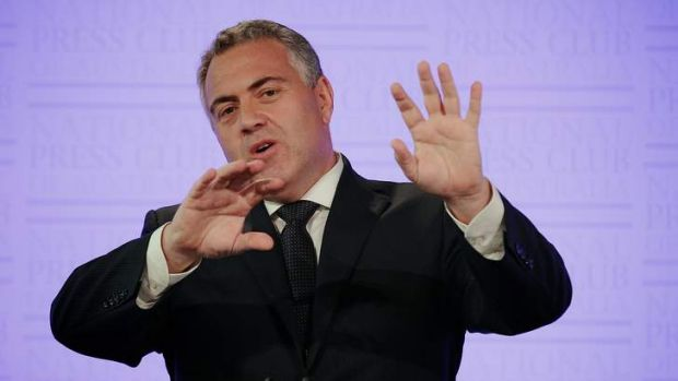 Treasurer Joe Hockey delivers the Mid-Year Economic and Fiscal Outlook in December.