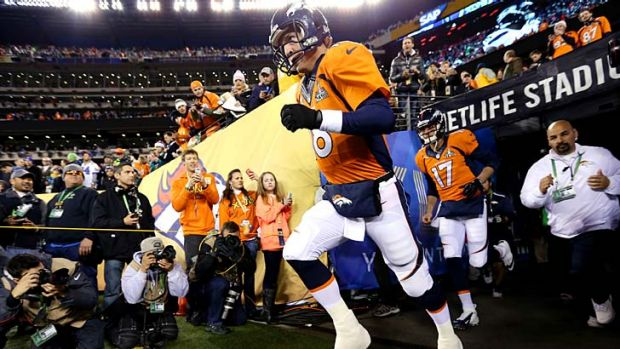 The Super Bowl before the snow: Seattle Seahawks faced off against Denver Broncos.