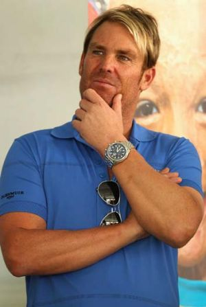 Shane Warne at the Shane Warne Foundation Family Day at Luna Park.