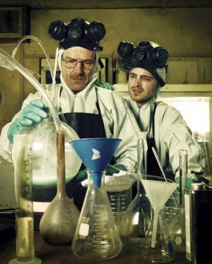 Bryan Cranston and Aaron Paul in <i>Breaking Bad</i>. Tours for fans of the show pass Albuquerque drug detox centres ...