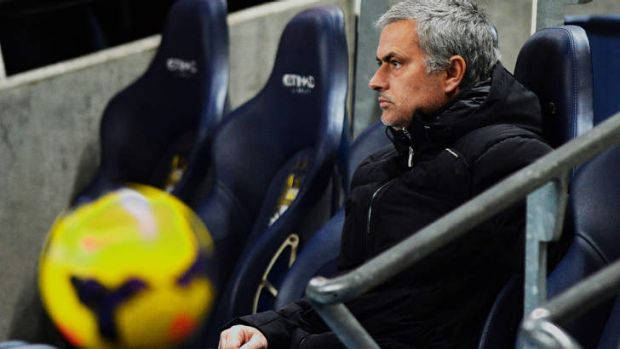 Man with the plan: Chelsea's Portuguese manager Jose Mourinho, the mastermind behind Chelsea's win over Man City.