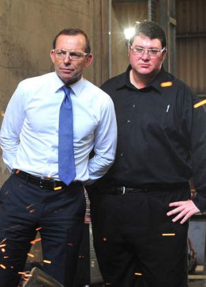 George Christensen, with Prime Minister Tony Abbott.