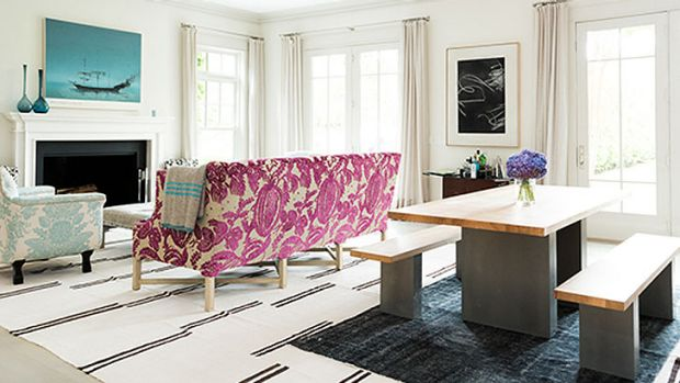 Gwyneth Paltrow's living room ... the result of a makeover by the Room in a Box e-decorating service by Windsor Smith.