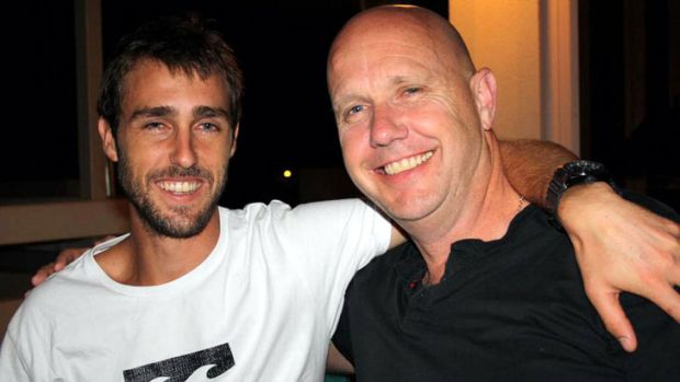 Tauri with his father, Clive Litchfield.