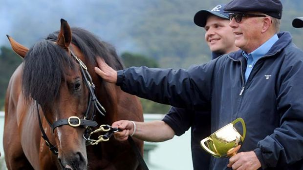 Lloyd Williams with 2012 Cup winner Green Moon.