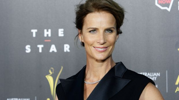 Embracing Australian TV ... Rachel Griffiths signs on to <i>House Husbands</i>.