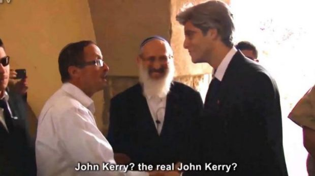 The US has lashed out at a video produced by Israeli settlers mocking US Secretary of State John Kerry.