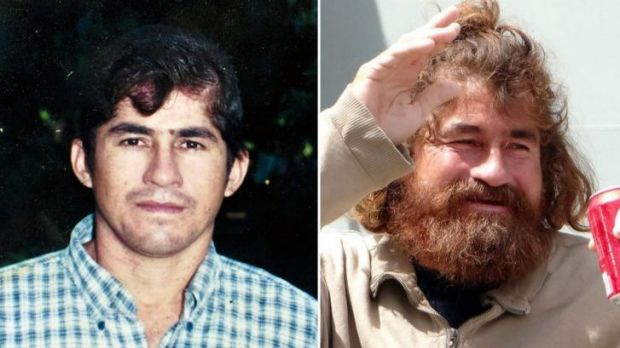An undated picture of Salvadorean castaway Jose Salvador Alvarenga before setting sail and after he was rescued.