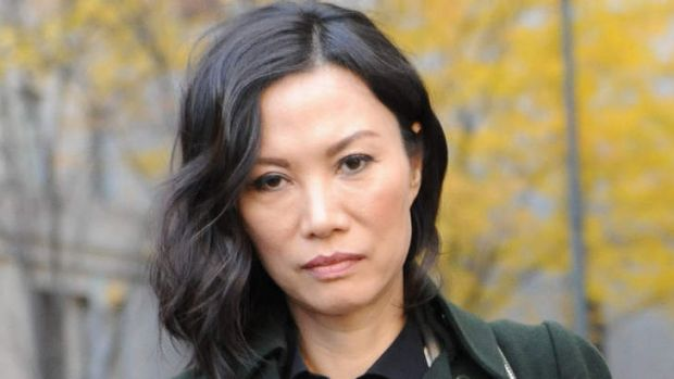 Made no comment to Vanity Fair ... Wendi Deng Murdoch exits the US State Supreme court during her divorce to Rupert ...
