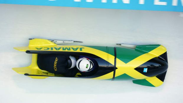 Cold comfort: The Jamaica bobsleigh team are sweating on the whereabouts of their luggage.