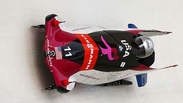 Career switch: Jones found bobsled when looking for a way to forget her Summer Olympics troubles.