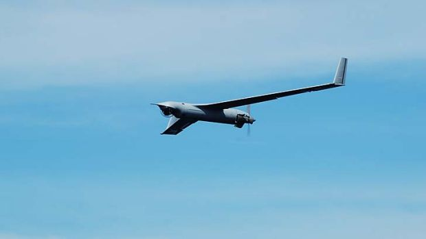 A ScanEagle unmanned aircraft. Devices like these could soon be a regular feature of the Australian skies thanks to a ...
