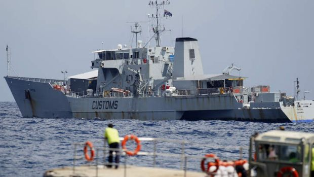 Reports have emerged in recent days of Australian vessels Triton (pictured) and Bathhurst sailing off Christmas Island, ...