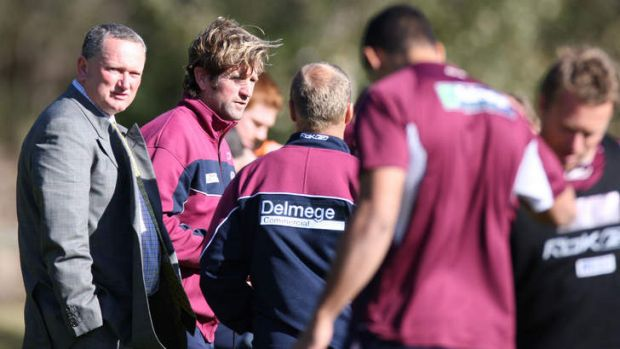 Calm before the storm: Controversial sports scientist Stephen Dank (left) during his stint at Manly.