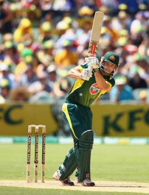 Shaun Marsh bats during game five of the ODI series against England.