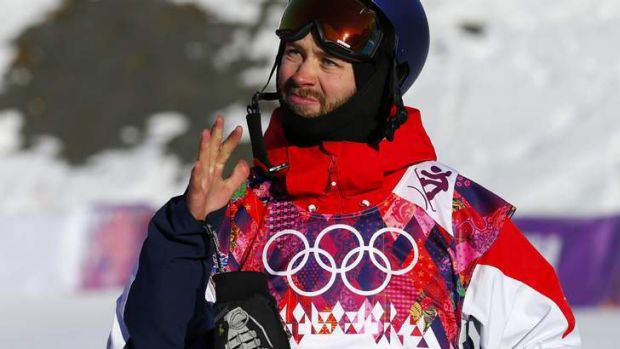 Billy Morgan during the men's slopestyle snowboarding qualifying session.