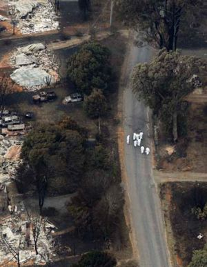 Darwin St, Marysville in 2009. Marysville suffered an enormous toll after it was smashed by the Murrindindi bushfire. ...