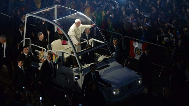 Swapped his hog for the Popemobile: Pope Francis also likes to take a bus.