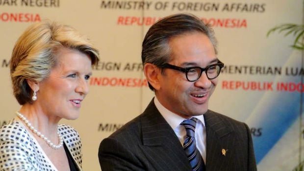 Indonesian Foreign Minister Marty Natalegawa with Foreign Minister Julie Bishop recently. The Indonesian government is ...