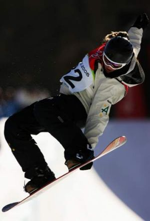 Holly Crawford in action during the 2006 Turin Winter Olympic Games.