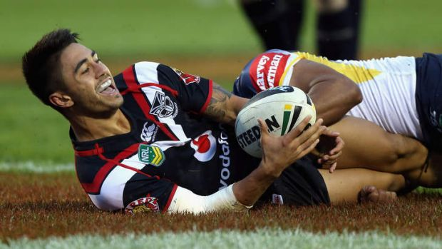 Crowd pleaser: Warriors halfback Shaun Johnson is being tipped by Andrew Johns to have a big impact in the Nines. The ...