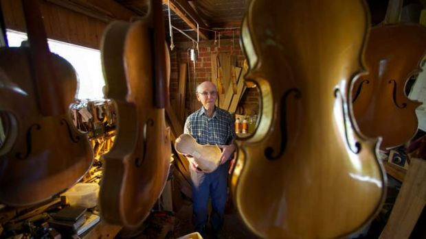 After switching from furniture to stringed instruments, Tom Ferguson hasn't looked back, producing more than 100 ...