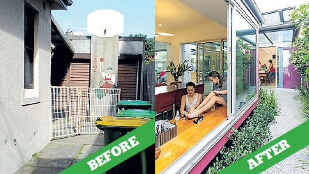 Home improvement: Double glazing and a new pavilion have transformed this Maroubra home.