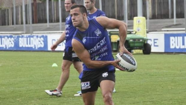 Determined: Corey Thompson is eyeing the fullback slot at the Bulldogs.