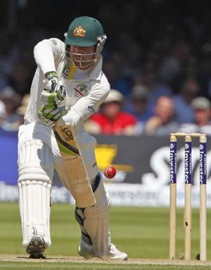 Staking a claim: Phillip Hughes.