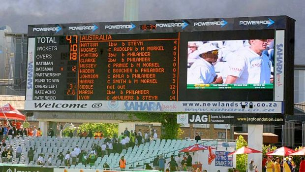 Losing surface: Australia lost at Newlands on a tricky pitch.