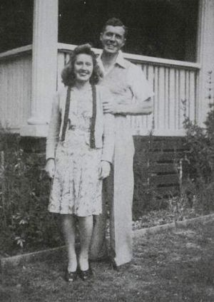 Keith and Norma Deutsher who have been together for 70 years.