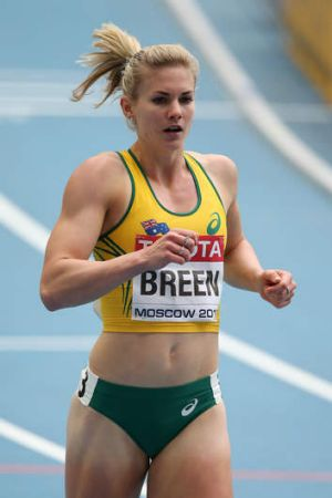 Canberra sprinter Melissa Breen in action at the London Olympics.