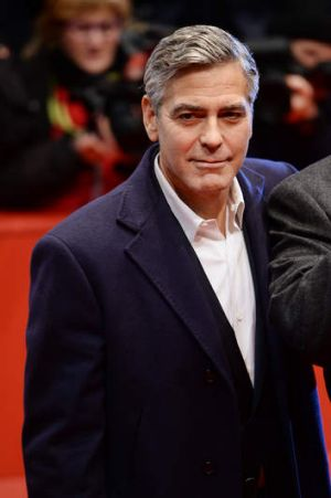 George Clooney attends 'The Monuments Men' premiere during 64th Berlinale International Film Festival in Berlin, Germany.