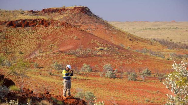 Work on the Roy Hill mine, in the Pilbara region of WA, is well under way.