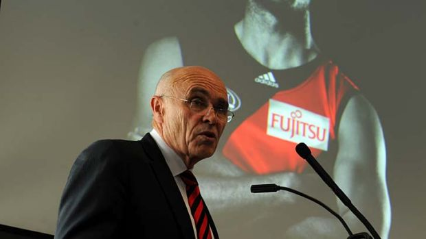 """Essendon's Paul Little has been accused of """"shoring up his position"""" in the AFL's """"boys club""""."""