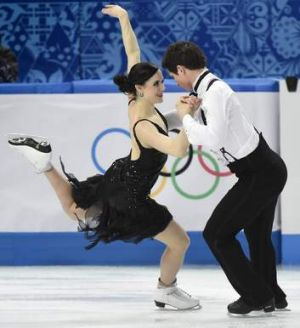Tessa Virtue and Scott Moir of Canada.