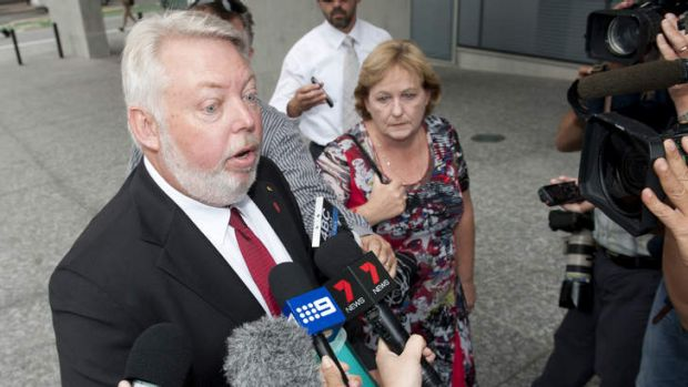 Bruce and Denise Morcombe speak to media as they enter day 1 of the trial for the man accused of killing Daniel Morcombe.
