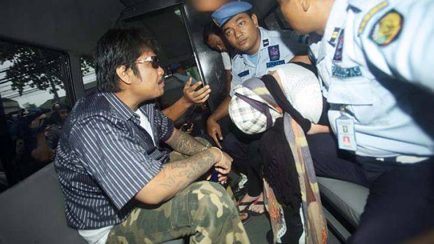 What now? Schapelle Corby leaves Kerobokan prison in a police bus.