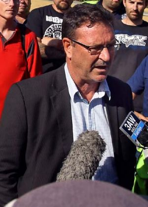 """""""We are looking at a potential recession all along the south-eastern seaboard"""": AMWU's Dave Smith."""