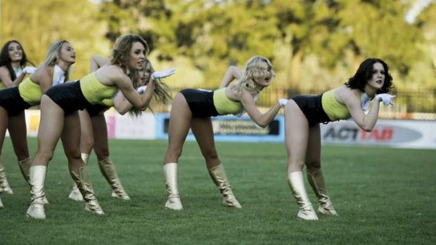 Rogue Dolls Australia try out for the Raiderettes at Belconnen Raiders Club on Friday.