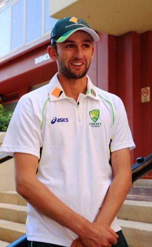 Smiling assassin: Nathan Lyon.