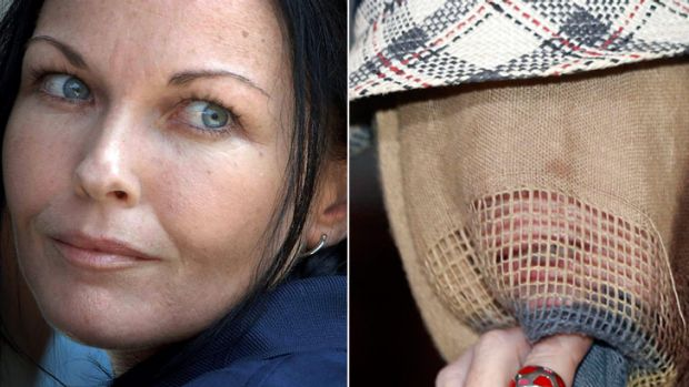 Before and after ... Schapelle Corby's face is unforgettable to most, but her shroud would suggest she would rather it ...